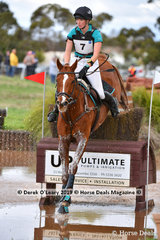 "Kirilee Hosier placed 2nd in the CCI4*-S riding ""REGAL RED JASPER"" with a final score of 53.80"