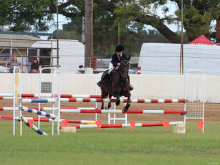 Alison Ostenfeld winner of the showjumper of the show
