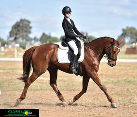 Leading after both the Dressage and Cross Country phase Bianca Evans and Dyrring Park Felix had a beautiful dressage test with a score of 81.84% in the EvA95 at the Tamworth International One Day Event.