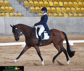 Done N Dusted put his best hoof forward for Rosie Jilla in the 4 Star dressage phase of the Tamworth International One Day Event.