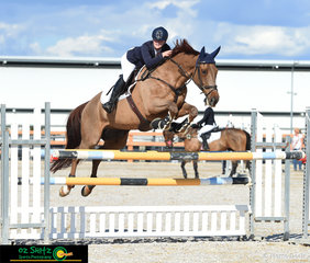 Kings Krackerjack looked impressive in the show jumping phase of the 3 Star competition at the Tamworth International One Day Event ridden by Alicia Seery.
