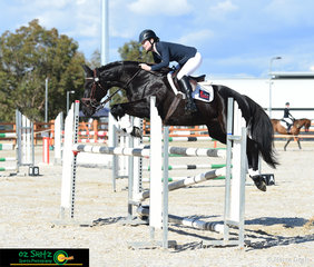 Not touching any rails in the 3 Star show jumping phase was Success Dostta with Phoebe McIntyre in the saddle.