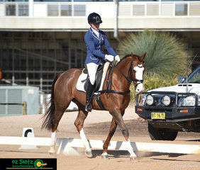 Matilda McCarroll and Kirby Park Masquerade made an appearance in the 2 Star class at the Tamworth International One Day Event.