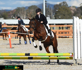 Miriam Uren and Cedervale Pebbles compete together in the EvA45 class at the 2019 Tamworth International One Day Event.