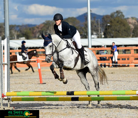 Rebecca Groves and her horse Libby were a combination in the Eva45 class at the Tamworth International One Day Event.