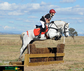 Just Wills looked after rider, William Bates in the cross country phase of the EvA60 competition at the Tamworth International One Day Event.