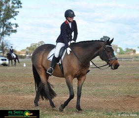 Looking happy with FBI's efforts in the EvA95B dressage phase was Junior rider, Anna Roper at the Tamworth International One Day Event.