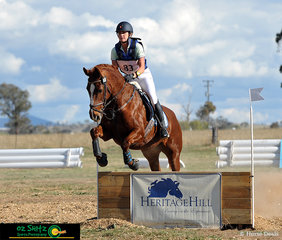 Competing in the EvA80 class at the 2019 Tamworth International One Day Event held at AELEC was Melanie Presdee riding her horse Donna Mia.