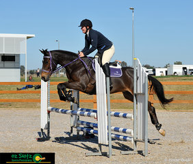 Competing at the Tamworth International One Day Event in the EvA80 was Amanda Newton and she rode Wundurra Revelation.
