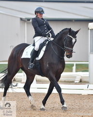 Elizabeth Sheather rode, 'Coldstream Universe' to fifth place in the Medium 4A test.