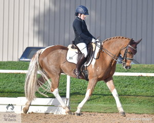 Ashleigh Atwell is pictured aboard , 'Champagne Perrier' during the Medium 4A test.