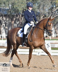 Talented Young rider, Isabelle Luxmore rode , 'Linus WK' to take sixth place in the Prix St Georges test.