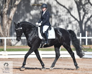 Hannah Bacarella rode , 'McMaster Theophilus' to fourth place in the Preliminary 1A test.