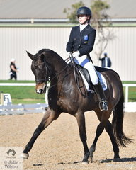 Javais Ham rode 'Gladwin' to take third place in the Prix St Georges with 66.32%.