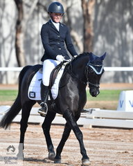 Hannah Millott rode, 'Sienna Blackberry' to third place in the Pony Preliminary 1A.