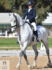 Deborah Ambrosini rode her, 'Deltry Valentino' to fourth place in the Medium 4B test.