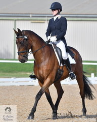 Kristy Moody rode her, 'Isle of Damascus' to take fourth place in the Prix St Georges test.