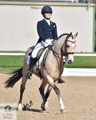 Amy Bachmann had a successful showing career with  her charming and talented pony, 'Heritage Park Chartreuse', now she is having great success in the dressage arena. They claimed second place in the Prix St Georges with 67.86%. They also took out the Intermediate 1 competition.