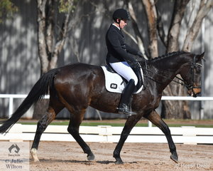 Nicole Wilks is pictured aboard her , 'Clifton Court Leith' during the Preliminary 1A test.
