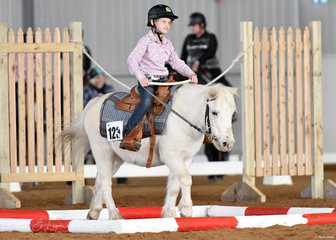 Chalky ridden by Maddison Files in the Trail class