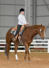 Meridith Martin riding YLS This Ones a Goodie in Western Horsemanship.