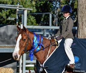 Lillian Meredith -  Orarapark Jolene winner of the 8yrs - under 11yrs Youth Challenge