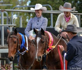 Heidi Gillett  - Fergalicious winner of the Super Horse Challenge and second place Tahlia McDonald Tocal Looney Tunes