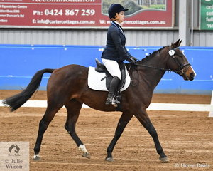 Rebecca Warren rode Mackea Jet to seventh place in the SPPHAV Novice State Dressage Championship. There were not many competitors today but all the horses were a credit to their riders for the time they have put into the training of their former harness horses.