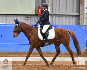 Kylie Demole rode Rusty to fourth place in the SPPHAV Novice State Dressage Championship. This is the first year the SPPHAV State Championship for dressage and showjumping have been held over one weekend.