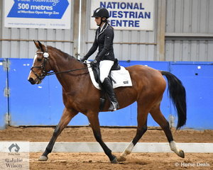 Sheridan Meyles rode Lucky Phoenix to take out the Partbred Reserve Championship.