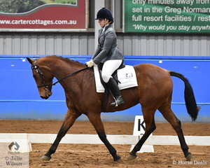 Kathryn Hayes riding Future Bliss placed sixth in the Open SPPHAV Dressage State Championship.
