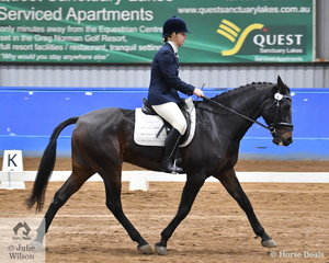Kate German rode Tealsby Lyle to take out the Open Reserve Championship at the SPPHAV State Dressage Championships.