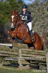 "Tansy Sagar placed 8th in the CCN1*-S Section B riding ""Kia Ora Charma"""