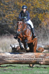 """Winner of the EvA80 Section B Harriet Magee riding """"Sharvalley La Vie"""" with a final winning score of 20.6 finishing on her dressage score."""