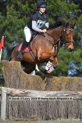 """2nd place in the EvA95 Section A went to Claire Rowan riding """"Truly Effective"""" with a final score of 35.3"""