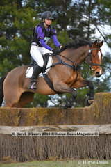 "Winner of the EvA95 Section A Jacqueline Hargreaves riding ""Reynvan Vigilance"" with a final winning score of 32.50"