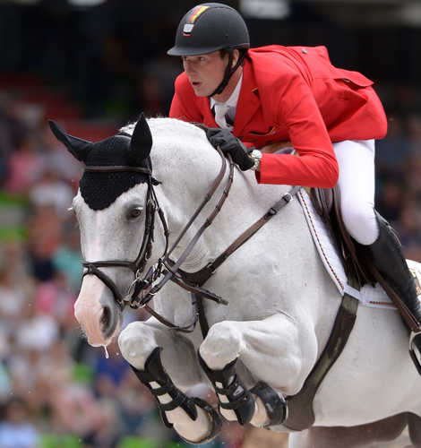 Germany's Daniel Deusser jumped a super round aboard the gelding, 'Cornet D'Amour' in a time of 78.41 seconds to hold seventh place after the first competition. The German Team is in fourth place after day one.
