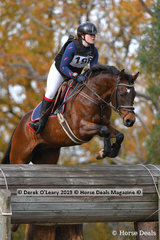 """Caitlyn Smith in the EvA 95 Section B riding """"Supreme Puzzle"""" placing 7th with a final score of 32.80"""