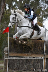 "Sophie Doake and the stunning grey ""Grandjany"" placed 5th in the CCN3*-S with a final score of  50.7"