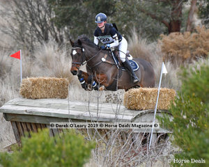 """Stephanie Ivanovic placed 6th in the CCN3*-S riding """"Mighty Tosca"""" with a final score of 55.1"""