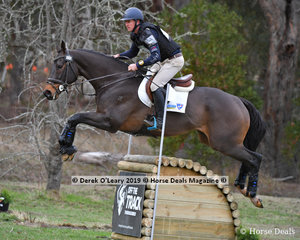 """Winner of the CCN3*-S Simon Tainsh riding """"Punching In a Dream"""" with a final sore of 29.40 finishing on his Dressage scores with clear showjumping and cross country phases"""
