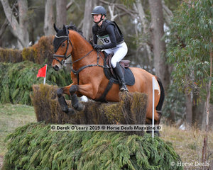 """Alexandra MacDonough rode """"Joie du Lys"""" to place 7th in the CCN2*-S Section A with a final score of 52.1"""