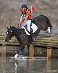 """Winner of the CCN2*-S Section B, Sam Jeffree riding """"Woodmount Lolita"""" with a final score of 32.1"""