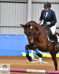 Kylie Slockwitch and Hutchelberry Finn jumped well for second place in the Intermediate AM5.