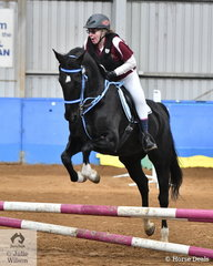 Event organiser Shelley Murcutt rode her well performed show jumping standardbred, Licorice Twist to win the Intermediate AM5 with a double clear round.