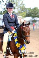 Champion Newcomer Ridden Pony 'Jentaritt Tennika' exhibited by Jennifer Hetherington & Tara Owen