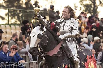 Sir Phillip Leitch, Australia on his victory lap riding stallion Noble Shadow Valiant