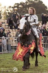 Australia's Sir Phillip Leitch and his stallion Noble Shadow Valiant retained their World Jousting Championship title. Phillip defeated Russia's Sir Andrei Kamin 4-3 riding Goliath.