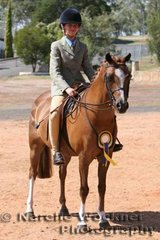 Reserve Champion Ridden Show Hunter Pony 'Mondiso Park Jerry Lee' exhibited by Lauren Finch