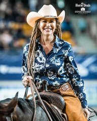 The most wonderful human you'll meet, the one and only Simmone Jade McKinnon leaves the pen after marking 74.5pts for 3rd place